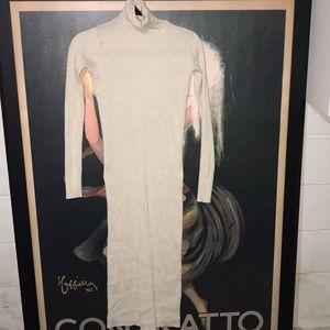 Zara knit ribbed turtleneck dress 🌿